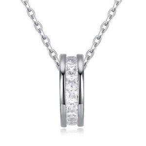 Jewelry - Swarovski Pave Circle Drop Necklace